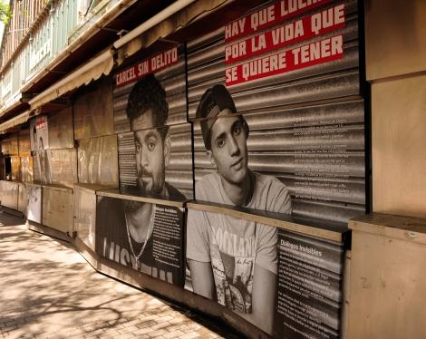 La foto de Ylias en el mercado de Hostafrancs en Barcelona.